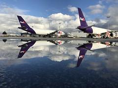 Fedex reflections (B Robinson60) Tags: yvr reflection 757 fedex mirrormirror flickrfriday
