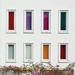 Colourful windows (talaan) Tags: ifttt 500px travel architecture white colors museum vietnam colorful colours place patio hanoi parati window box gable colorly womens