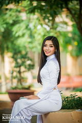 Vietnam's high school student (Khoa Ngô Photography) Tags: select girl lady student beautiful portrait aodai school highschool photoshoot nice canon 6d young