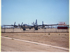 Tucson, AZ  - Military Aircraft Museum - 1967 (tonopah06) Tags: tucson az arizona 1967 instamatic airmuseum davismonthanafb davismonthan b29 airforce bomber militaryaircraftmuseum aircraft plane airplane masdc