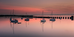 Tranquil Afterglow (Sunset Snapper) Tags: tranquilafterglow sunset langstoneharbour haylingisland hampshire southcoast uk red clouds reflections nikon d810 2470mm filter lee nd grad still calm tranquil peaceful relaxing seascape boats yachts august 2017 sunsetsnapper