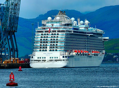 Scotland Greenock docked the cruise ship Regal Princess bound for Belfast then New York 13 September 2017 by Anne MacKay (Anne MacKay images of interest & wonder) Tags: scotland greenock docked cruise ship regal princess xs1 13 september 2017 picture by anne mackay