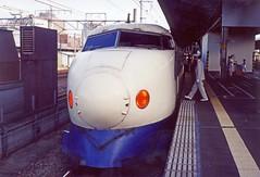 Shinkansen 200 series Kyoto Aug 12th 1993 (D70) Tags: maximum speed 240 kmh 149 mph 275 171 past shinkansen 200 series kyoto aug 12th 1993