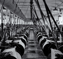 Weaving loom hall (Tim Ravenscroft) Tags: weaving looms machines mill cotton lowell hasselblad hasselbladx1d x1d