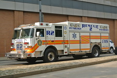 Pittsburgh EMS | Rescue 2 (Emergency_Spotter) Tags: rescue ems emergency medical service white orange r2 paramedics steel medic