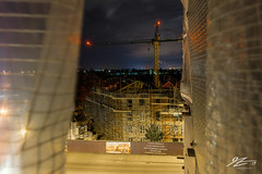 You Don't See Me (Tim van Zundert) Tags: durrington worthing westsussex housing construction scaffolding urbex buildingsite crane night evening longexposure hidden hiding sony a7r voigtlander 21mm ultron