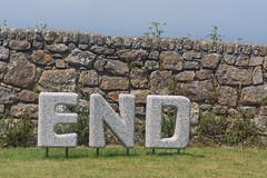 An End In Itself (pni) Tags: landsend wall text letter word grass stone penzance uk17 cornwall uk england unitedkingdom pekkanikrus skrubu pni end sky sennen