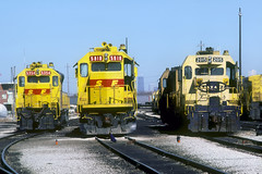 AT&SF SD45-2u 5818 (Chuck Zeiler) Tags: atsf sd45 sd452u gp7u 5354 5818 2015 railroad emd johnhancock yard