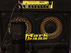 Speak Up! (Pennan_Brae) Tags: guitaramplifier guitaramp microphone mu bassguitarist musicphotography recordingstudio musicstudio recording bassist bassguitar bass amp amplifier