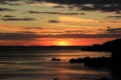 Sunset - Auchenlarie - 2017-09-17 (BillyGoat75) Tags: auchenlariecaravanpark auchenlarie dumfriesgalloway scotland sunset irishsea rocks coastline