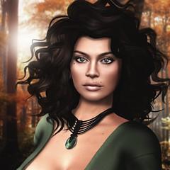 Kort Diage - Fall 2017 (Arwen Clarity) Tags: avi avatar mesh life secondlife second sl 2ndlife people lelutka green fall autumn greeneyes beauty beautiful portrait