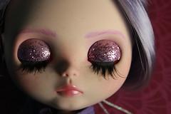 AGATHA (_danie11e_) Tags: custom blythe tbl factory agatha ooak girl doll purple hair lilac fa art