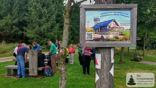 Wandern auf dem Rennsteig bei Oberhof