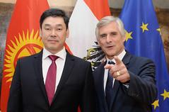 Generalsekretär Linhart trifft Staatssekretär von Kirgisistan Aibek Omokeev