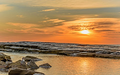 Rocky Sunrise Seascape (Merrillie) Tags: terrigal theskillion australia centralcoast clouds coast coastal dawn daybreak earlymorning earlymornings landscape nature newsouthwales nsw rocks rocky scenery scenic sea seascape skillion sunrise travel water waterscape
