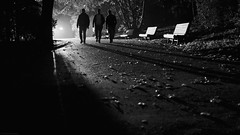 trouble ahead (frax[be]) Tags: streetphotography street atmosphere dark noir night highcontrast lowkey lightshadows fuji x100t 23mm outdoor blackandwhite noiretblanc bnw bw monochrome blackwhitephotos