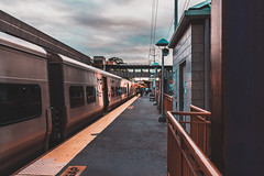 Station Vibes (intimidatingrice) Tags: train trainstation lirr huntington huntingtonstation masstransit moody sunset clouds building buildingphotography amateurphotographer amateurphotography photography photographer lightroom amateur