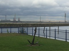 TaM015 Manchester ship canal and new Mersey crossing; Runcorn (holymoor) Tags: canal runcorn bridge powerstation
