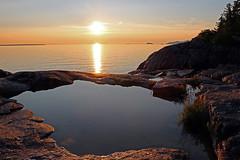 Superior Sunset - Agawa Bay Rock Pool (TomIrwinDigital) Tags: lake superior lakesuperior agawa provincialpark ontario canada greatlake pool rock bay