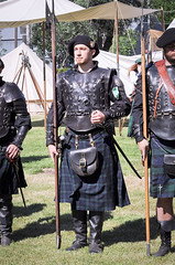 Scottish Halberdiers (GazerStudios) Tags: halberds weapons scottish armor men hats beards celtic warriors kilts livinghistory costumes black guards boots renaissance 15thcentury leather historicalreenactment berets crochet sporrans bracers groups 55300mm nikond90