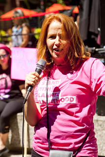 Dr. Amy Whitaker Medical Director Planned Parenthood Illinois Our Lives Are on the Line Health Care Rally Chicago 7-29-17 1996