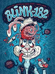 Blink-182 Gig Poster (Michael Hacker Illustration) Tags: blink blink182 merch182 gigposter poster rockart cardiff motorpointarena screenprint siebdruck silkscreen gigart illustration bunny rabbit brain funny michaelhacker