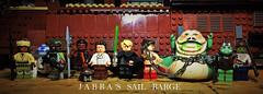 """Jabba! This is your last chance!"" (LordAllo) Tags: lego jabbas jabba the hutt sail barge desert skiff barada nikto r2d2 boba fett lando calrissian han solo luke skywalker princess leia gamorrean guard return jedi"