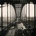 Looking along the Tyne Bridge from Gateshead