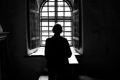 Looking out (andersåkerblom) Tags: silhouette church window monochrome blackandwhite black
