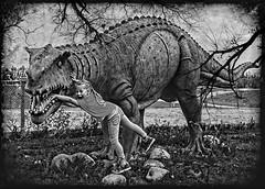 lara croft (peter manintveld) Tags: fujixt2 fujixf1655mmf28rlmwr smartphotoeditor dinosaurus dinosaur hellevoetsluis animal attractiepark beeld reptiel reptile statue