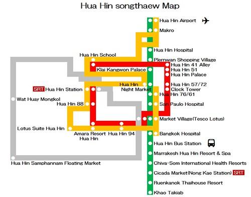 Hua Hin Songthaew Map
