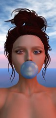 DAY TRIPPIN' / 0009 (Bo Narrow) Tags: bonarrow cranq genesis truth 3d lucid trippin sky pink blue freckles portrait selfie bubblegum sweet candy daydreaming secondlife sl