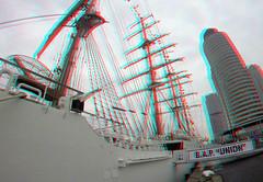 BAP UNION - Sailing vessel 3D (wim hoppenbrouwers) Tags: bap union peru 3d anaglyph stereo redcyan wilhelminapier rotterdam