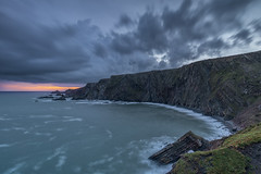 Hartland Quay at Sunrise, North Devon (MelvinNicholsonPhotography) Tags: hartlandquays hartland northdevon devon seascape sunrise ocean waves orange blue longexposure melvinnicholsonphotography