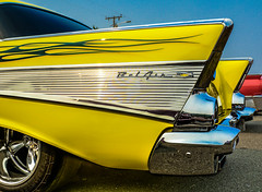 1957 BEL AIR--DSC06925--Port Orford, OR (Lance & Cromwell back from a Road Trip) Tags: carshow2017 1957 chevrolet chevy belair sony sonyalpha a77ii dt1650mmf28