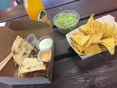 Middag 16/8 (Atomeyes) Tags: mat mango läsk quesadillas tortilla chips guacamole solvalla trav