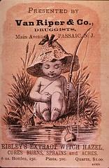 "Presented by Van Riper & Co., Druggists: Risley's Extract Witch Hazel (National Library of Medicine - History of Medicine) Tags: ""thenationallibraryofmedicine"" ""stillimage"" ""nonprescriptiondrugs"" chromolithograph ""risleysextractwitchhazel"" verso medication ""familymedicine"" vegetable stream fishing ""vanriperco "" imagesfromthehistoryofmedicine ihm freeonlineresource visualmedia fineart photographs engravings posters ""socialandhistoricalaspectsofmedicine"" ""digitalcollections"""" ""biomedicalresources ""books videos maps"