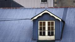 A Little Princess (Theen ...) Tags: 1973 alittleprincess attic blackandwhite blue cascadebrewery corrugated franceshodgsonburnett glass hobart iron lumix panes roof rust theen tvseries window wood