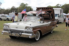 1959 Ford Galaxie Skyliner (Gerald (Wayne) Prout) Tags: 1959fordgalaxieskyliner 1959 ford galaxie skyliner 2017winterfloridaautofestlakeland lakelandlinderregionalairport cityoflakeland polkcounty florida usa prout geraldwayneprout canon canoneos60d automobile car carshow 2017 autofest winter lakeland linder regional airport polk county vehicle convertible
