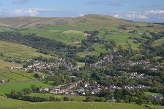 The Village of Hayfield, High Peak, Derbyshire, England.