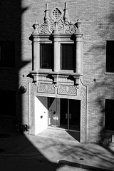 she's not there (fallsroad) Tags: tulsaoklahoma urban city buildings trees bw blackandwhite monochrome