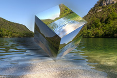 177 (robwiddowson) Tags: 3d landscape lake forest germany cube digitalart robertwiddowson image picture