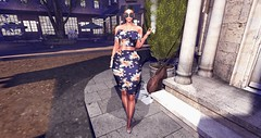 HAUS OF ITO/AZOURY (Suzie Coba Esquire) Tags: heels secondlife azoury haus of ito dress tempest sunglasses mila hair opale nova dahlia necklace bracelet