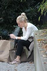 exhale (if you insist) Tags: smoking smoker exhale eurosmoke candid cigarette addict breath female nicotine blonde