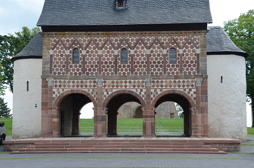 Lorsch (Hesse), porche d'entrée (Torhalle) d'une l'abbaye carolingienne