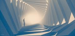 Mémoires du Futur (10 MIX) Tags: surreal dof blury architecture secondlife virtual thoughtful future design lonely alone pixels 3d wewanttobefree