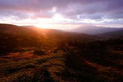 Sunrise and clouds (kat-taka) Tags: ã¬ãã sunshine sunrise clouds mountain autumn blue sky iwate japan