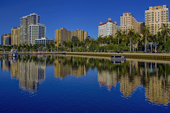 City of West Palm Beach, Palm Beach County, Florida, USA (Jorge Marco Molina) Tags: westpalmbeach palmbeachcounty city cityscape urban downtown skyline southflorida density centralbusinessdistrict skyscraper building architecture commercialproperty cosmopolitan metro metropolitan metropolis sunshinestate realestate highrise royalparkbridge townofpalmbeach palmbeach clearlake reflection reflectiononwater intracoastalwaterway trumpplaza