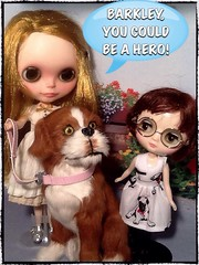 Blythe-a-Day#4. No Work: The Girls&Their Dog Barkley