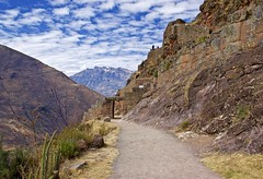 Hiking in the Pisac Incan ruins site (somabiswas) Tags: pisac inca ruins path hikes mountains nature cusco peru saariysqualitypictures